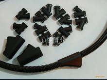 塑料波紋管可打開式Y型三通接頭 T型尼龍浪管三通接頭